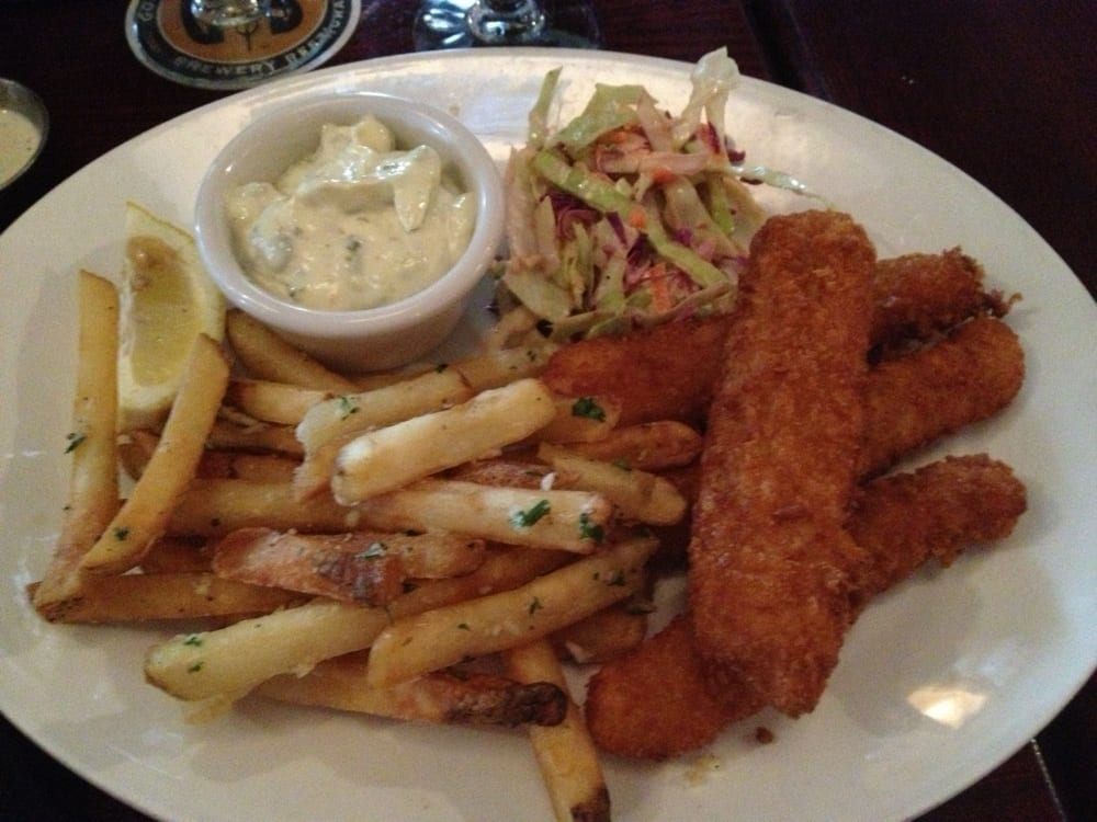 No beer battered fish at a brewery this was more like for Gordon fish sticks