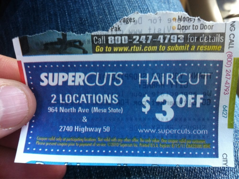 Supercuts discount coupon