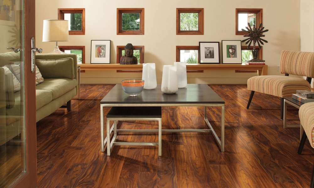 Rich Acacia Laminate Flooring With The Look Of Real Hardwood