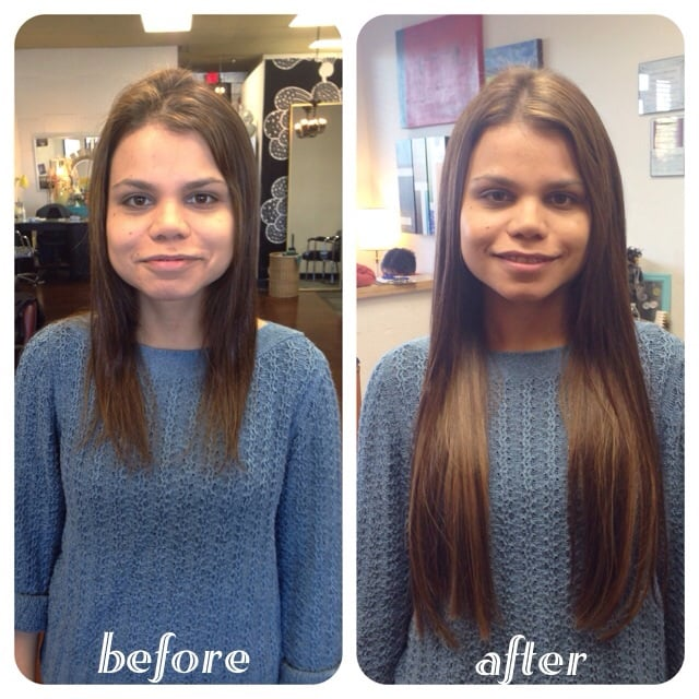Before And After 22 Keratin Fusion Hair Extensions Yelp
