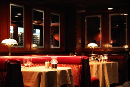 Binion S Interior Love The Dark Woods Red Booths And Old