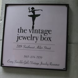 Photo Of The Vintage Jewelry Box