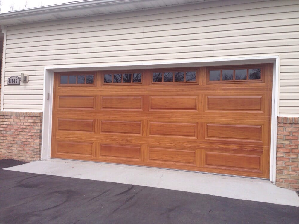 Photo of Premier Door Service - Brighton MI United States. 16u0027 x & 16u0027 x 7u0027 C.H.I. Garage Door - Model: 4283 Accent - Color: Cedar ...