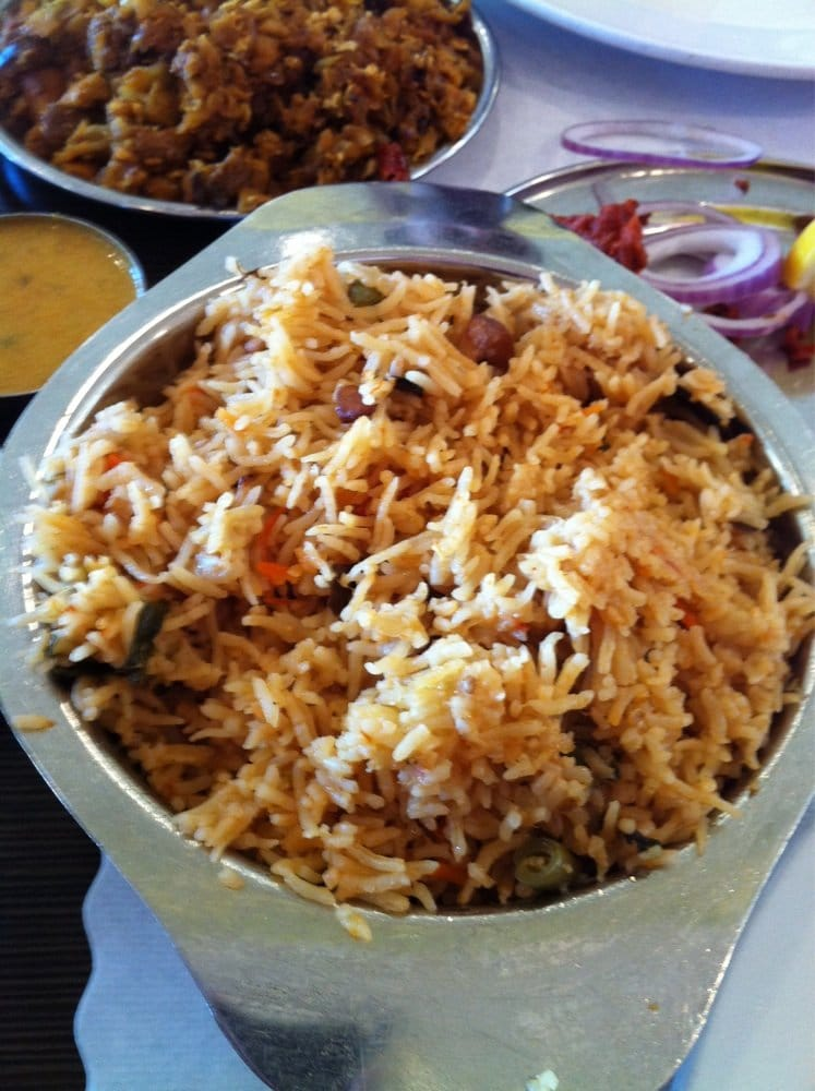 Veggie biryani yelp for Anjappar chettinad south indian cuisine