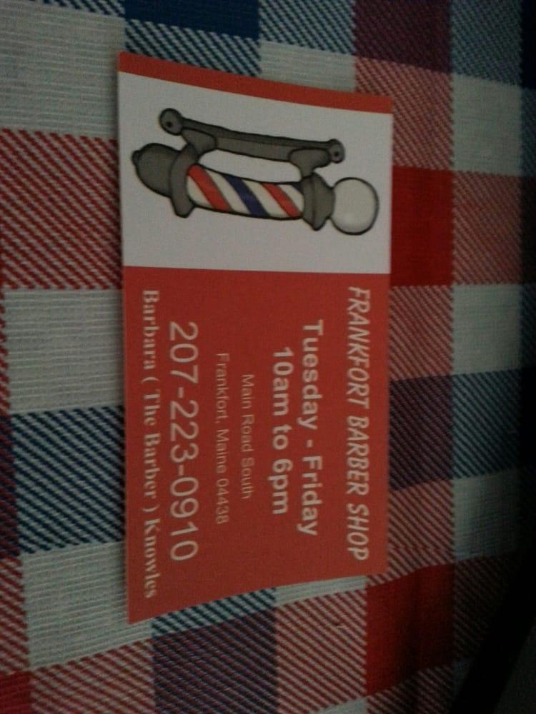 Frankfort Barber Shop: 32 Main Rd S, Frankfort, ME
