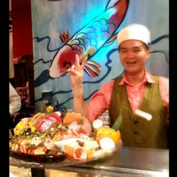 Mizu Hibachi & Sushi - New City, NY, United States. Chef Jimmy and his creation