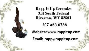 Rapp It Up Ceramics: 314 S Federal Blvd, Riverton, WY