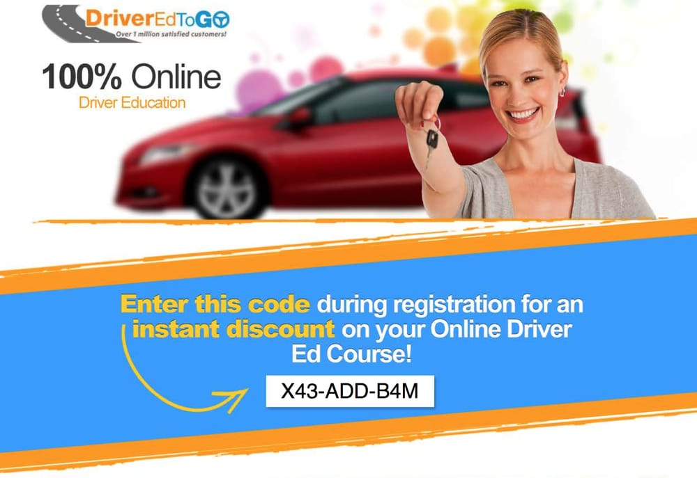 Drivers ed to go coupon code