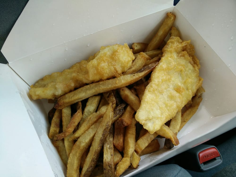 2 Haddock fish fillet with fries coleslaw and a lemon wedge $13 - Yelp