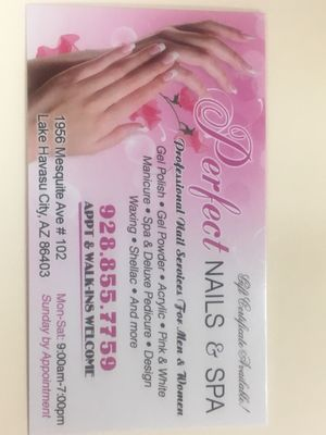 Perfect Nails Spa 1956 Mesquite Ave Lake Havasu City Az Manicurists Mapquest