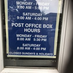 post office holiday hours 2019