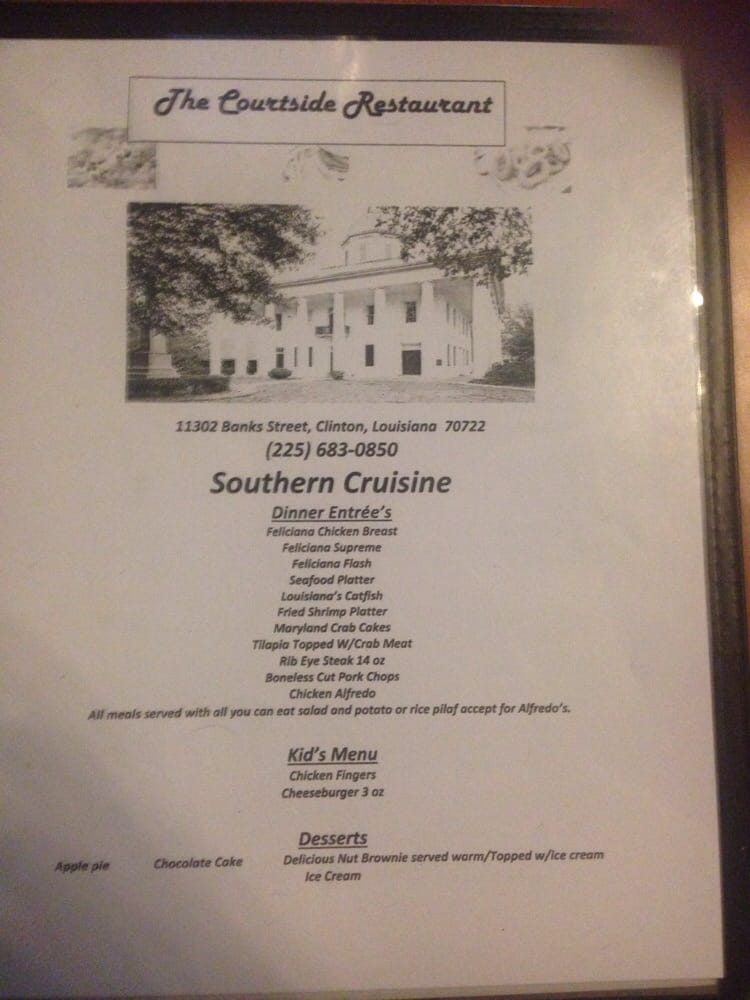 Courtside Restaurant And Event: 11302 Bank St, Clinton, LA
