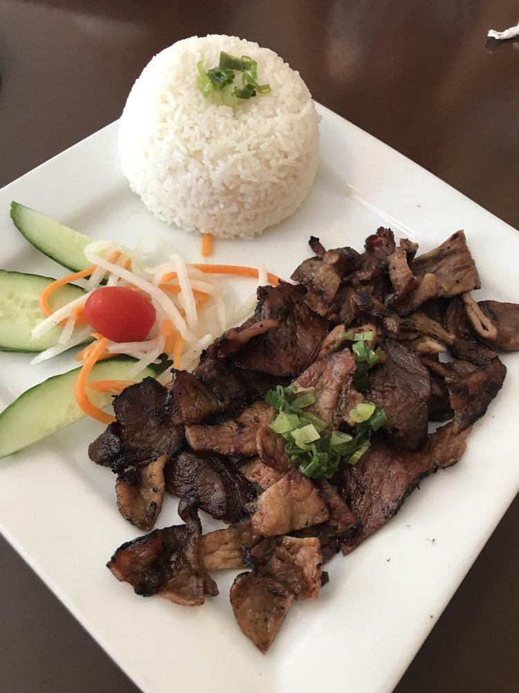 Food from Pho Miss Saigon