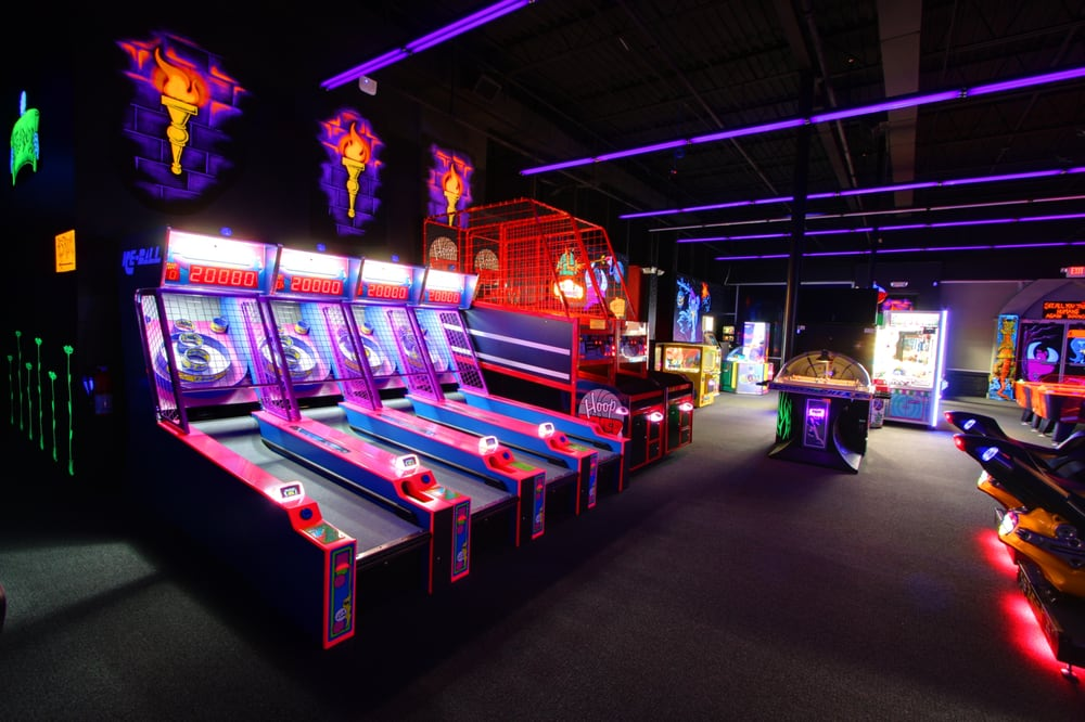 Our Arcade Has Plenty Of Room To Accommodate Large Groups