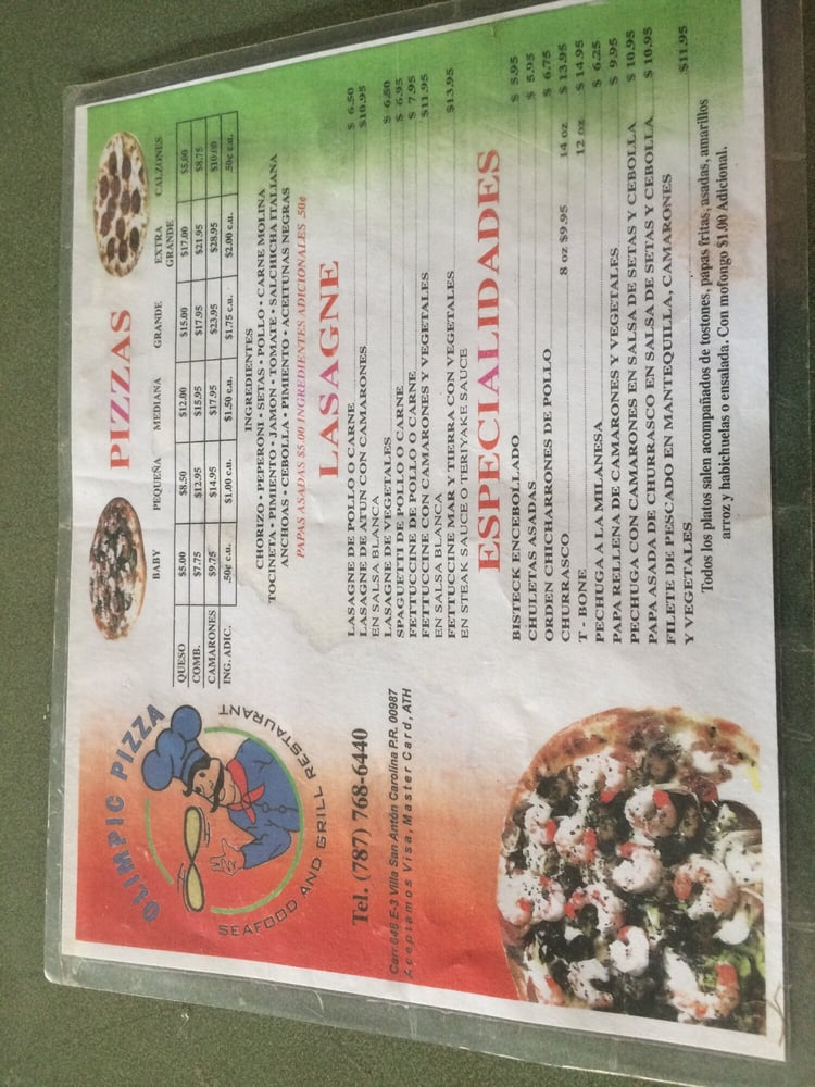 Olimpic Pizza: Carr.PR-848 S/N, Carolina, PR