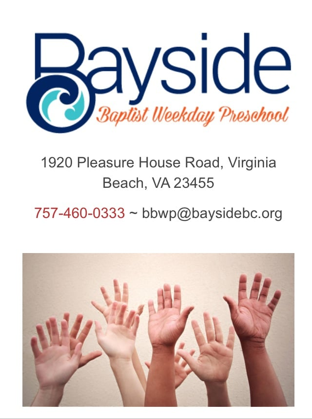 Bayside Baptist Weekday Preschool: 1920 Pleasure House Rd, Virginia Beach, VA
