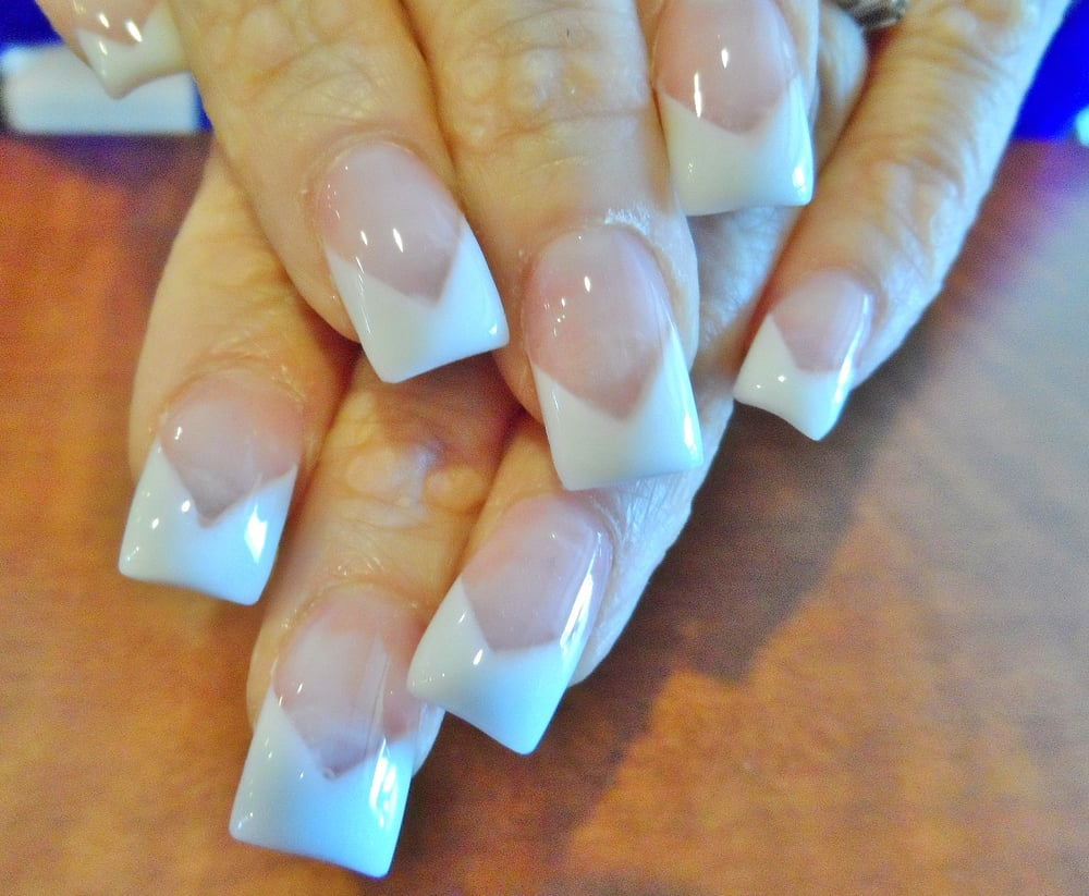V-shaped Pink White French Tip - Yelp