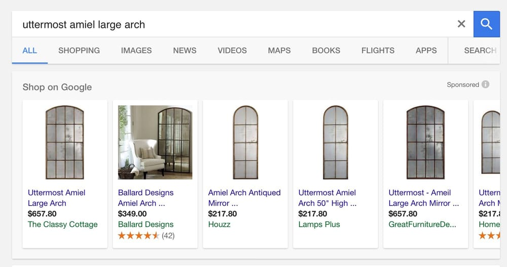 Amiel Large Arch Mirror S For 350 700 D Here At 1385 Yelp