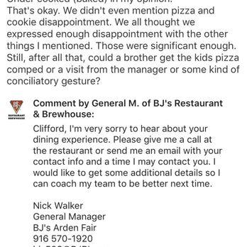 BJ's Restaurant & Brewhouse - 1689 Arden Way, Sacramento, CA