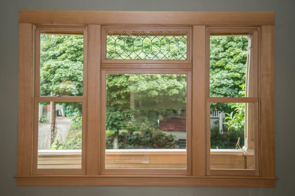 New Doug Fir Window Using Original 1907 Leaded Glass Yelp