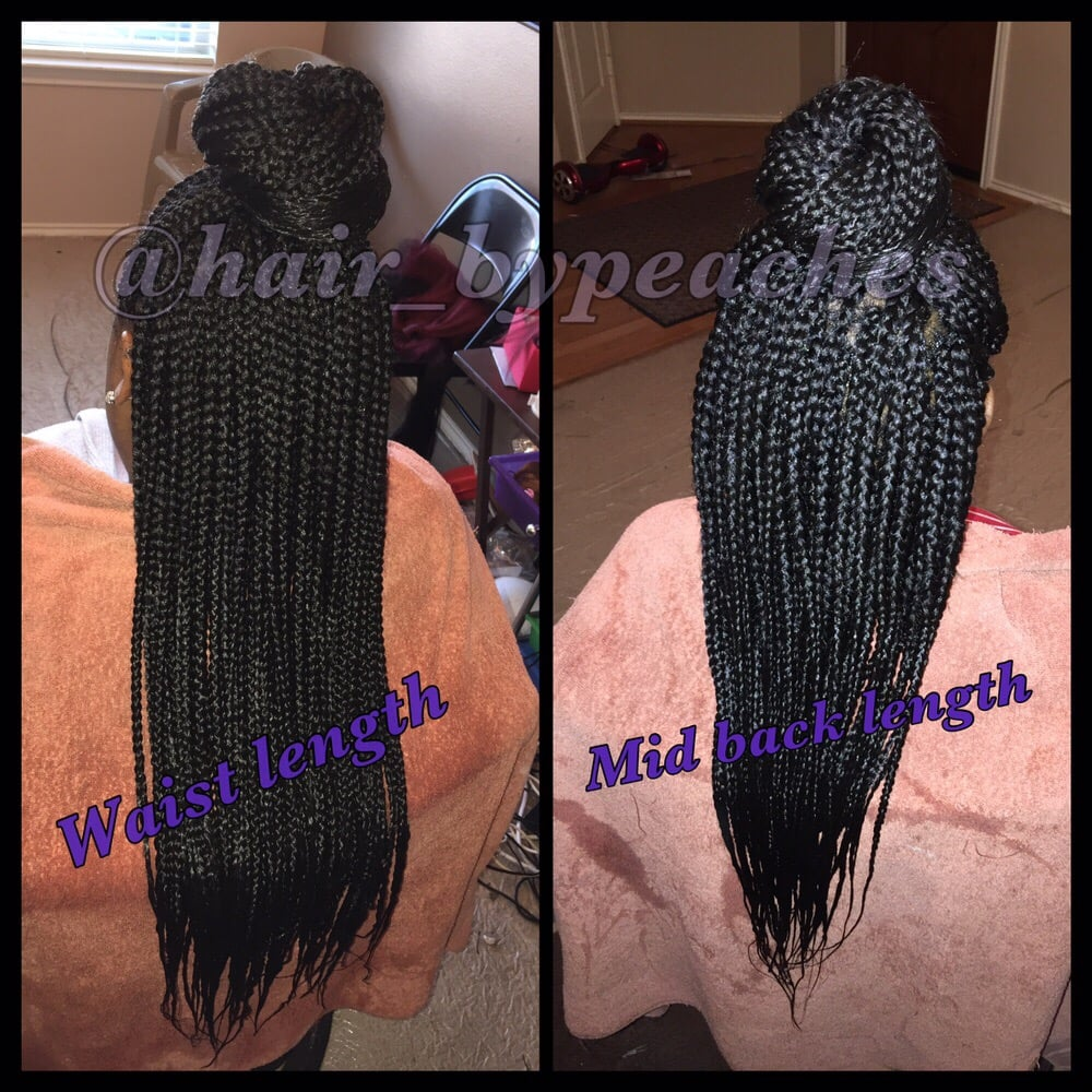 Box Braids Mid Back Length Waist Length The Difference In Length