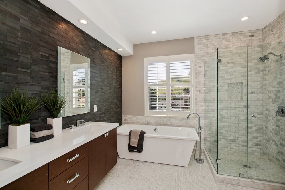 Carrara Marble Beveled Subway Tile Shower And Bath Walls Hexagon