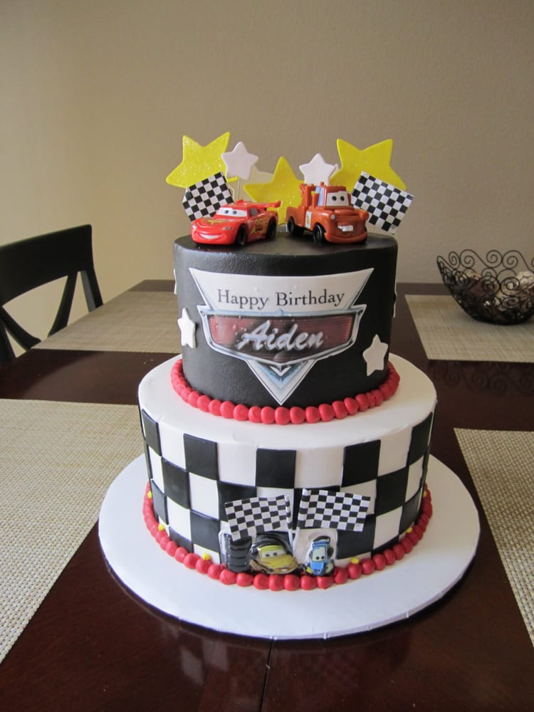 Simple Car Shaped Cake