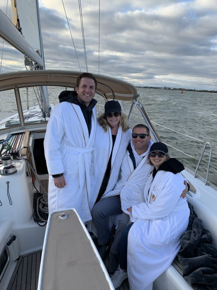 Charleston Sailing Harbor Tours on Sailing Yacht Fate