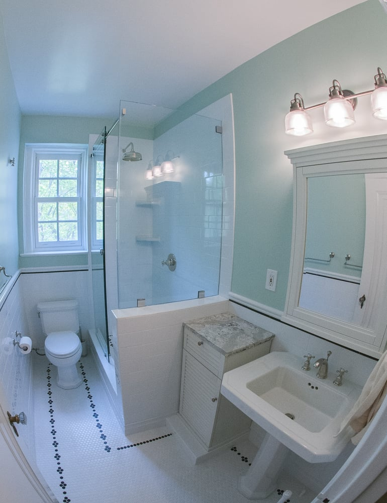 photo of bath plus kitchen design remodel arlington va united