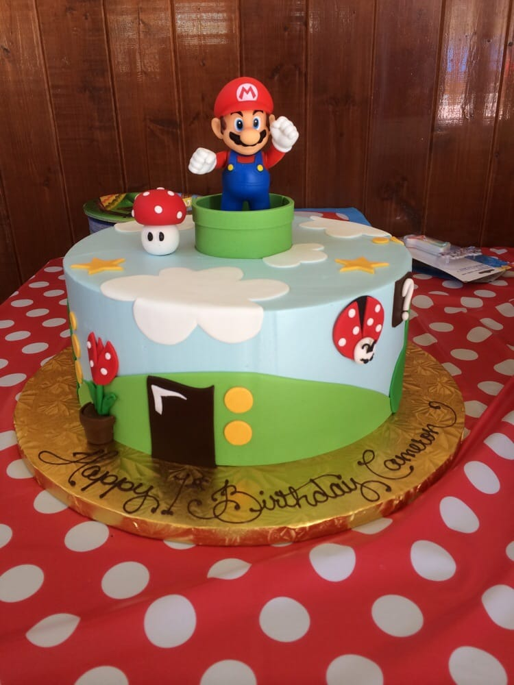 Our Sons 1st Birthday Cake Super Mario Bros Themed Party