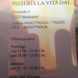 Pizzeria La Vita Dal Camino - Cucina italiana - Poststr. 6 ...
