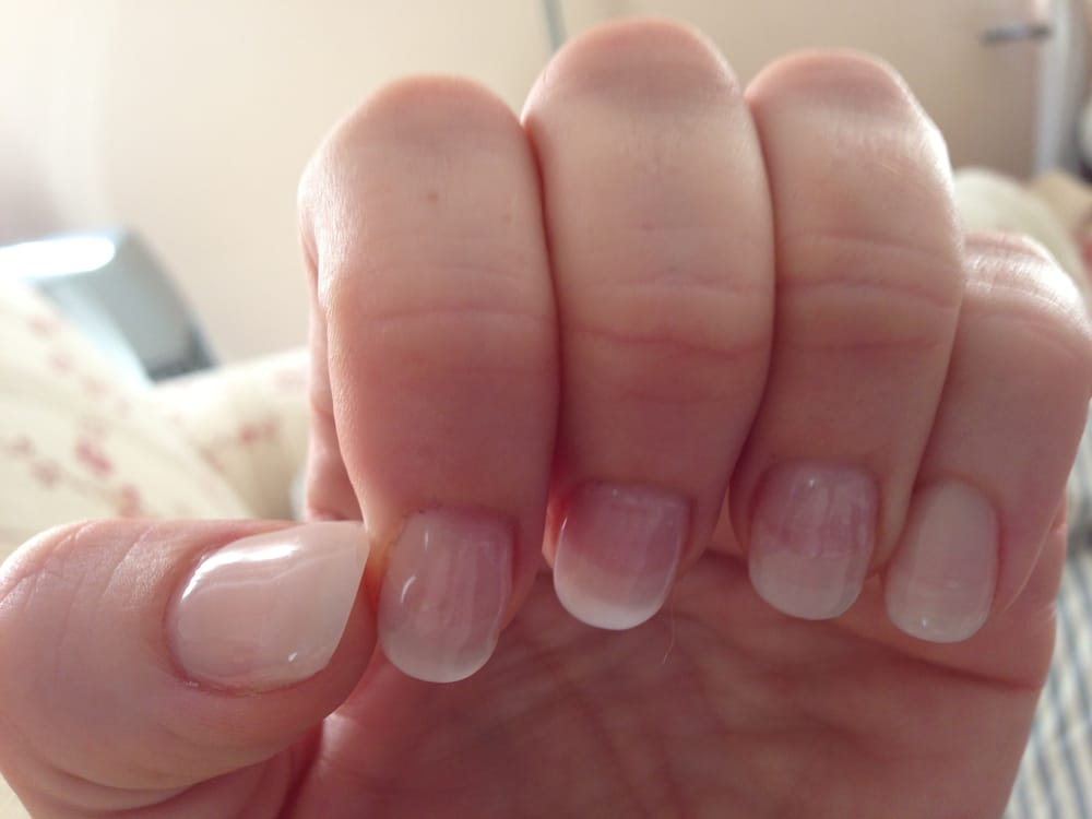 Silk wrap manicure with gel. - Yelp