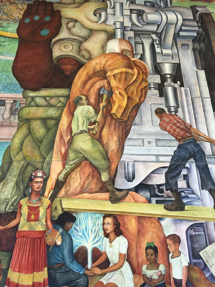 Diego rivera mural project 25 photos public art 50 for Diego rivera san francisco mural