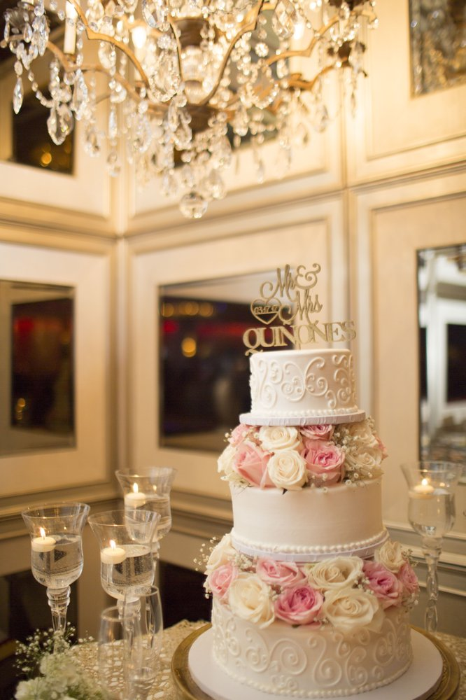 3 Tier Wedding Cake With Fresh Flowers Provided By Porto S