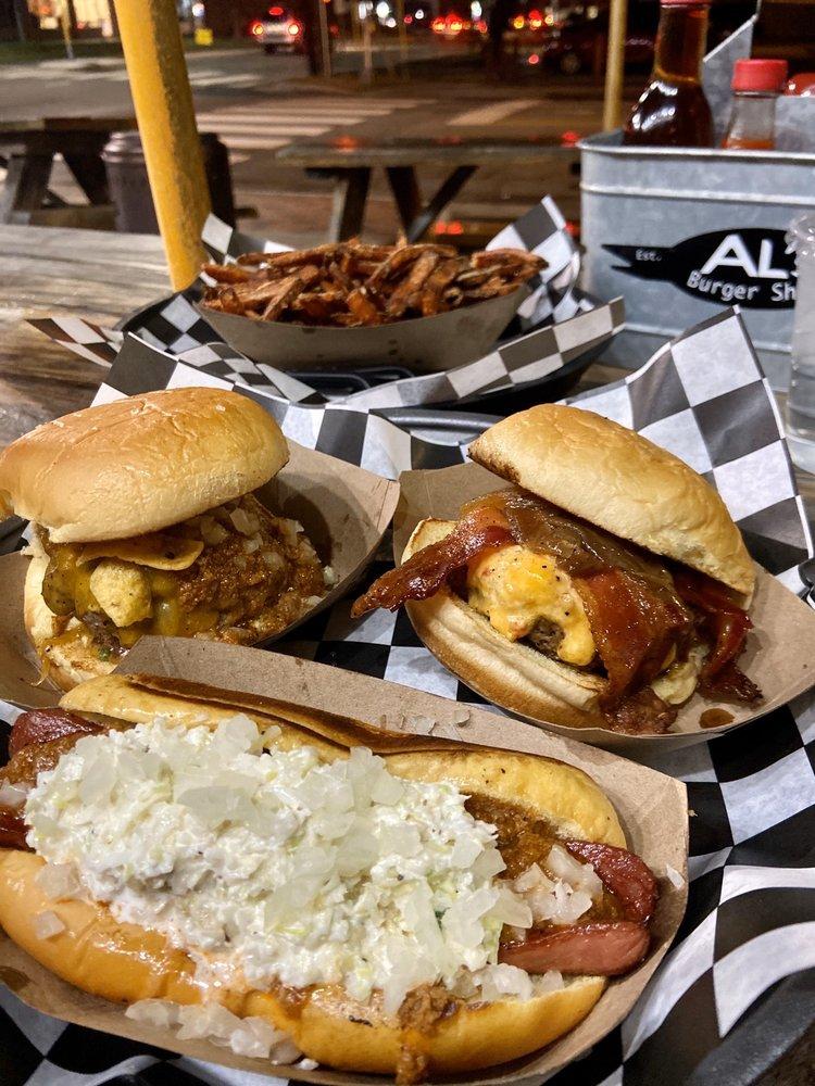 Food from Al's Burger Shack
