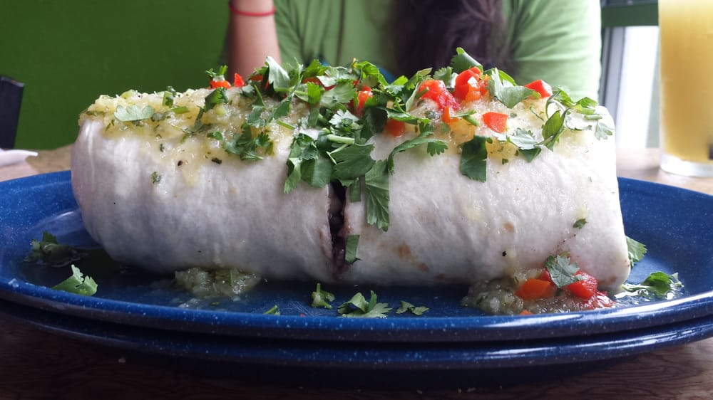 Giant burrrrrrito: pineapple jerk tofu - Yelp