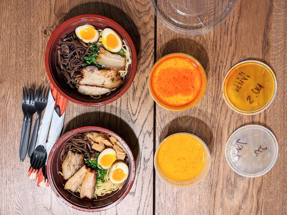 Food from Saku Ramen