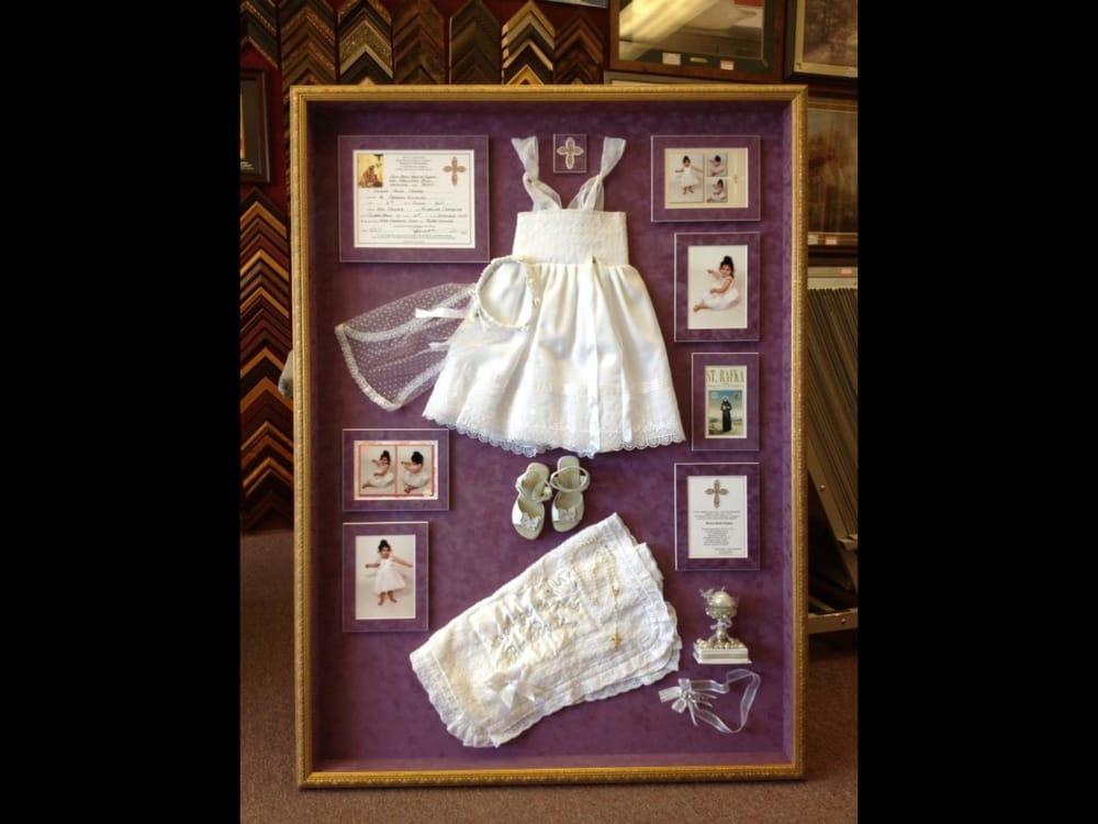 Baptism collage shadow box framed in three inch deep shadow box ...
