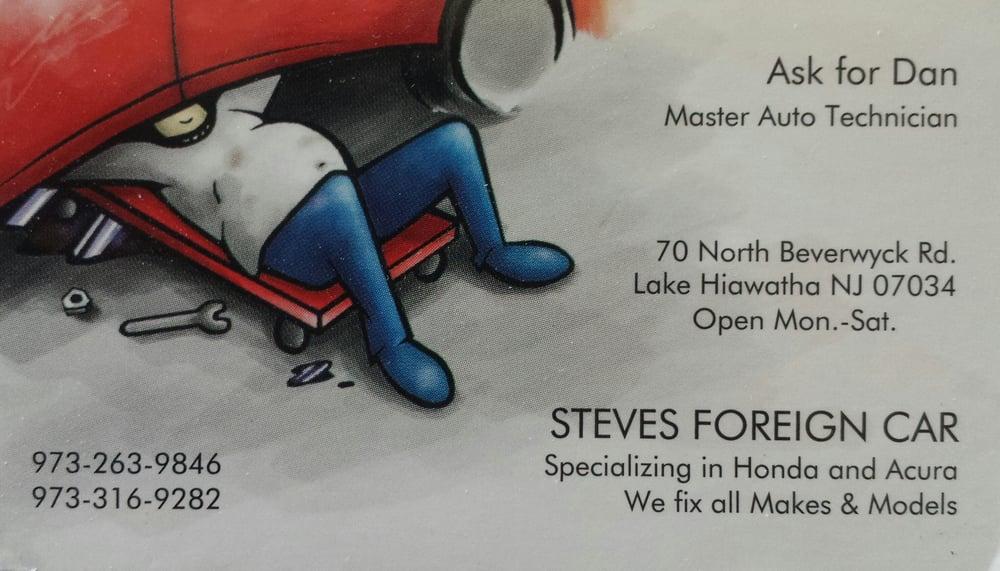 Steve S Foreign Car Lake Hiawatha Nj
