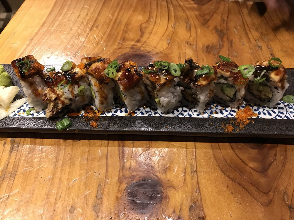Food from RnR Sushi & Bowls