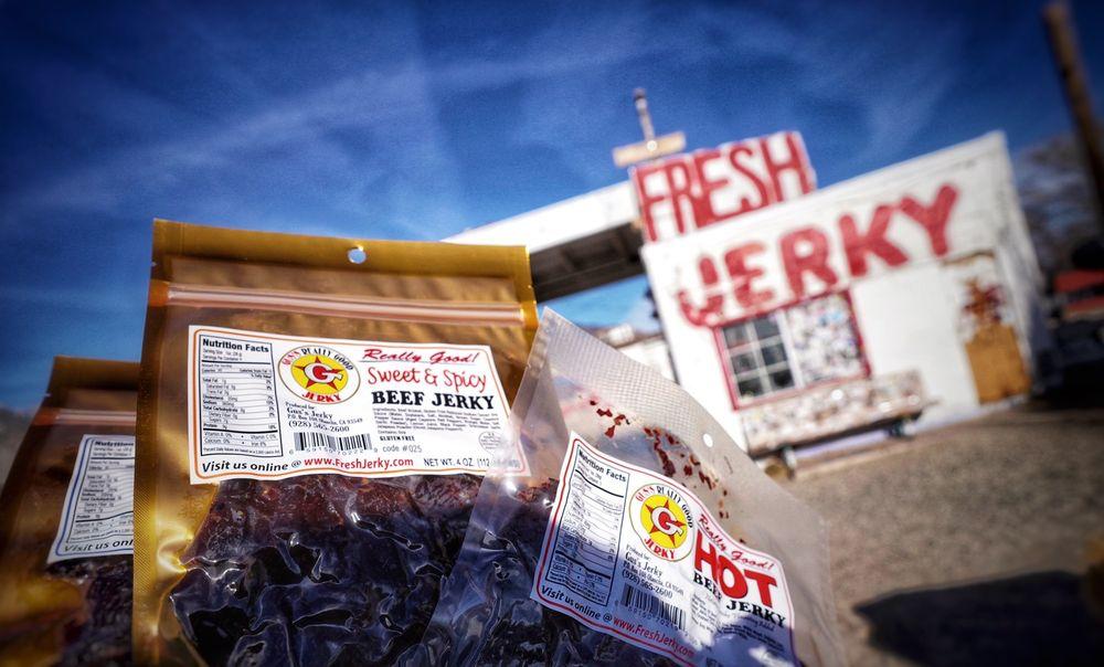 Gus's Fresh Jerky: 580 S Hwy 395, Olancha, CA