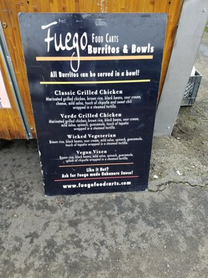 Fuego Food Carts Burritos & Bowls SW Market St & SW 2nd Ave Portland