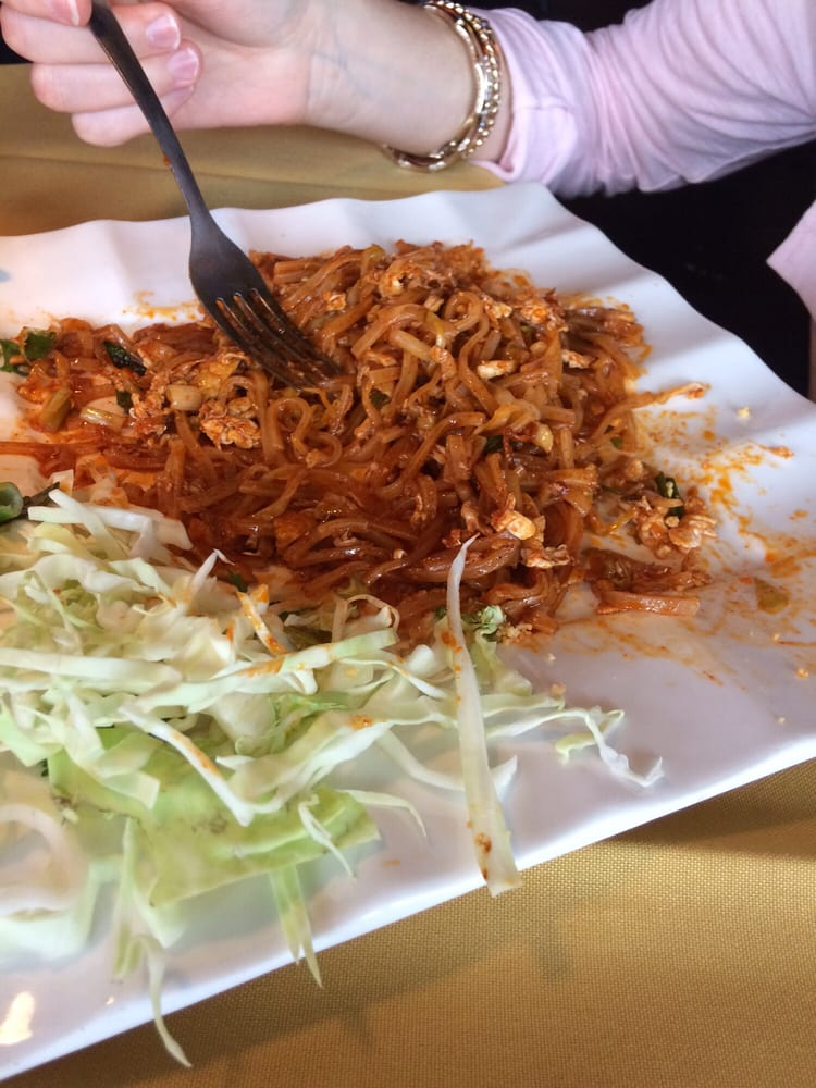 Pad thai with chicken amazing yelp for 5 star thai cuisine