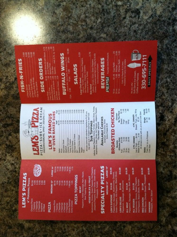 Lem's Pizza: 110 N Mill St, Fredericksburg, OH