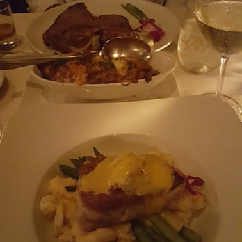 ... States. Porterhouse, crab mac and cheese with brie, and the ahi tuna