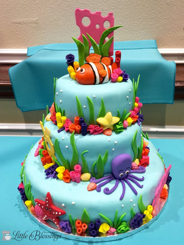 Under The Sea 1st Birthday Cake Yelp