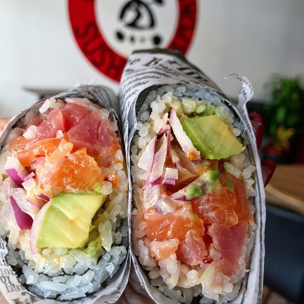 Salmon and tuna sushirrito yelp for Where to buy fish for sushi