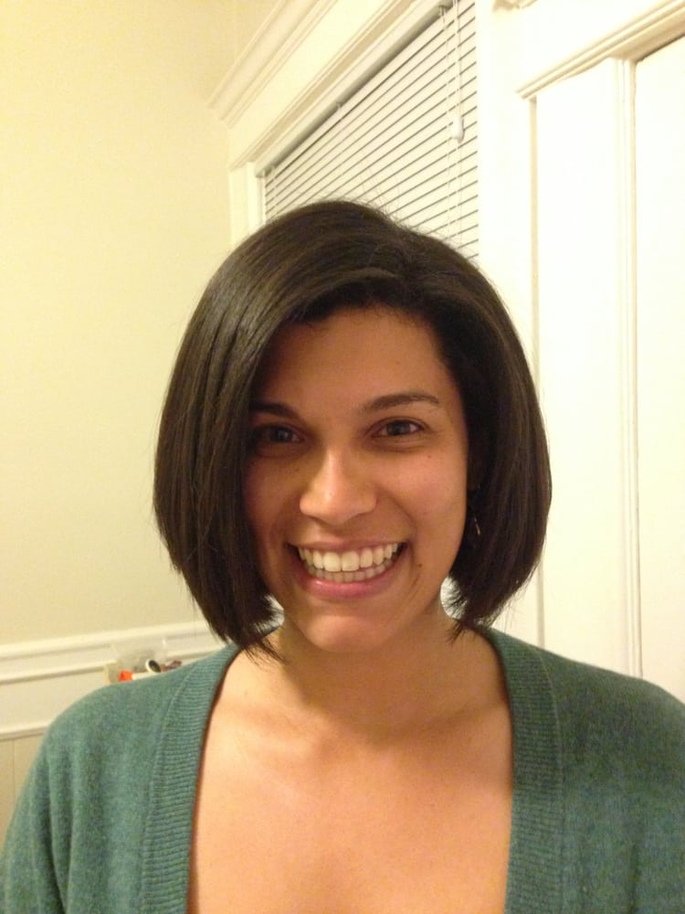 Natural Hair Gently Pressed With A Precision Bob Haircut Yelp