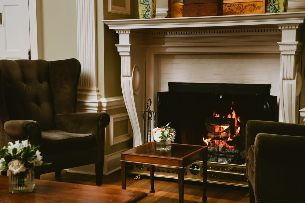 Lots Of Wood Burning Fireplaces Throughout The Main House At