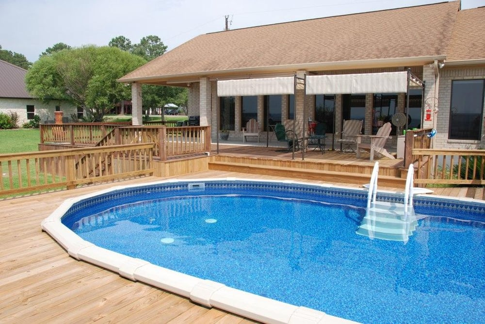16 X 26 Above Ground Swimming Pool By Backyard Oasis In Livingston Tx Yelp